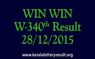 WIN WIN W 340 Lottery Result 28-12-2015