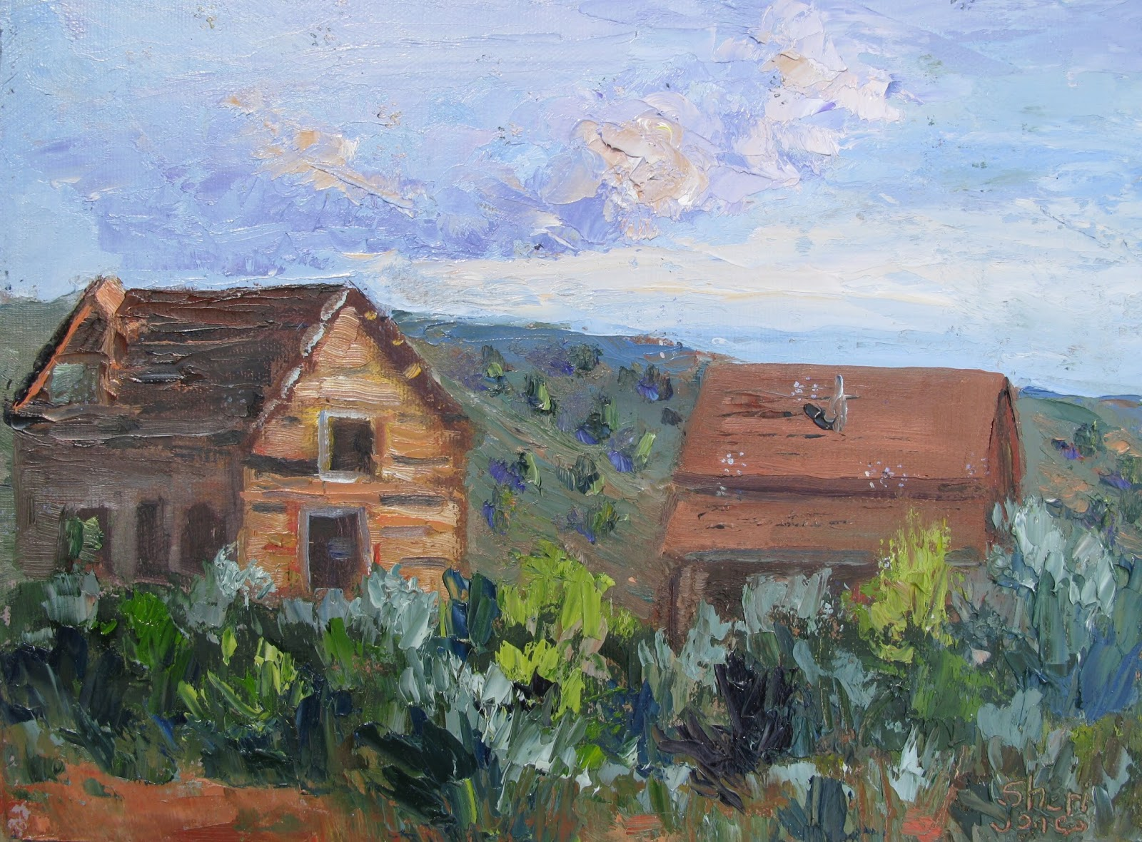 Artists Of Texas Contemporary Paintings And Art Log Cabin