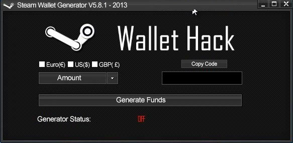 steam wallet code hack download