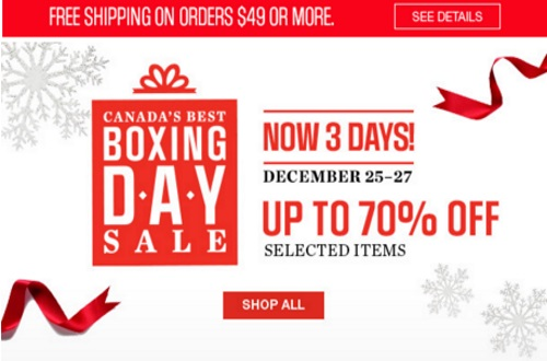 Sears Boxing Day Sale Up To 70% Off
