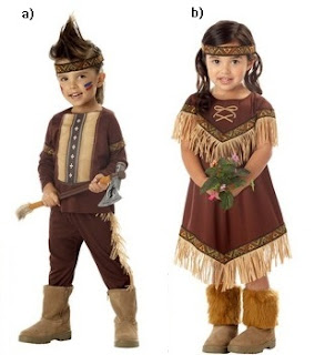 Indian Warrior and Indian Princess Costumes