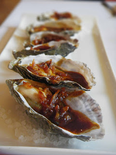 Oysters Kilpatrick are always a treat