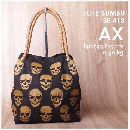 jual online tote sumbu unik skull murah