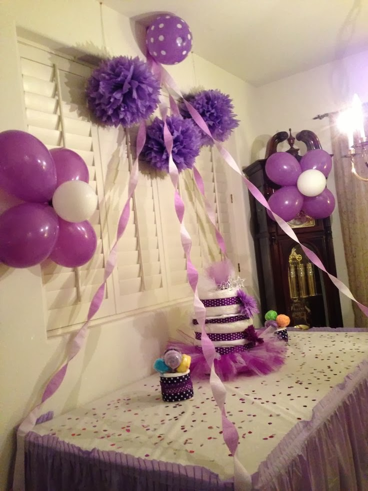 Balloon decorations for baby shower party favors ideas for Baby decoration party