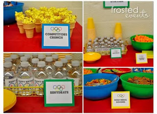Olympic Party Food - Love all the tags!