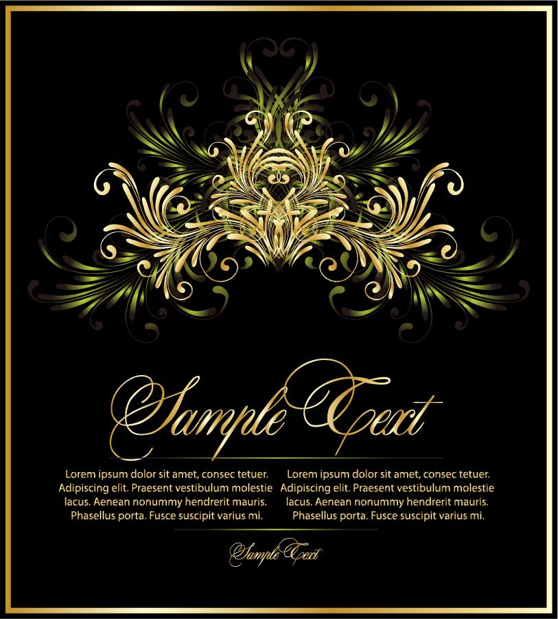 ヨーロッパ調の重厚な背景 europeanstyle lace pattern vector イラスト素材2