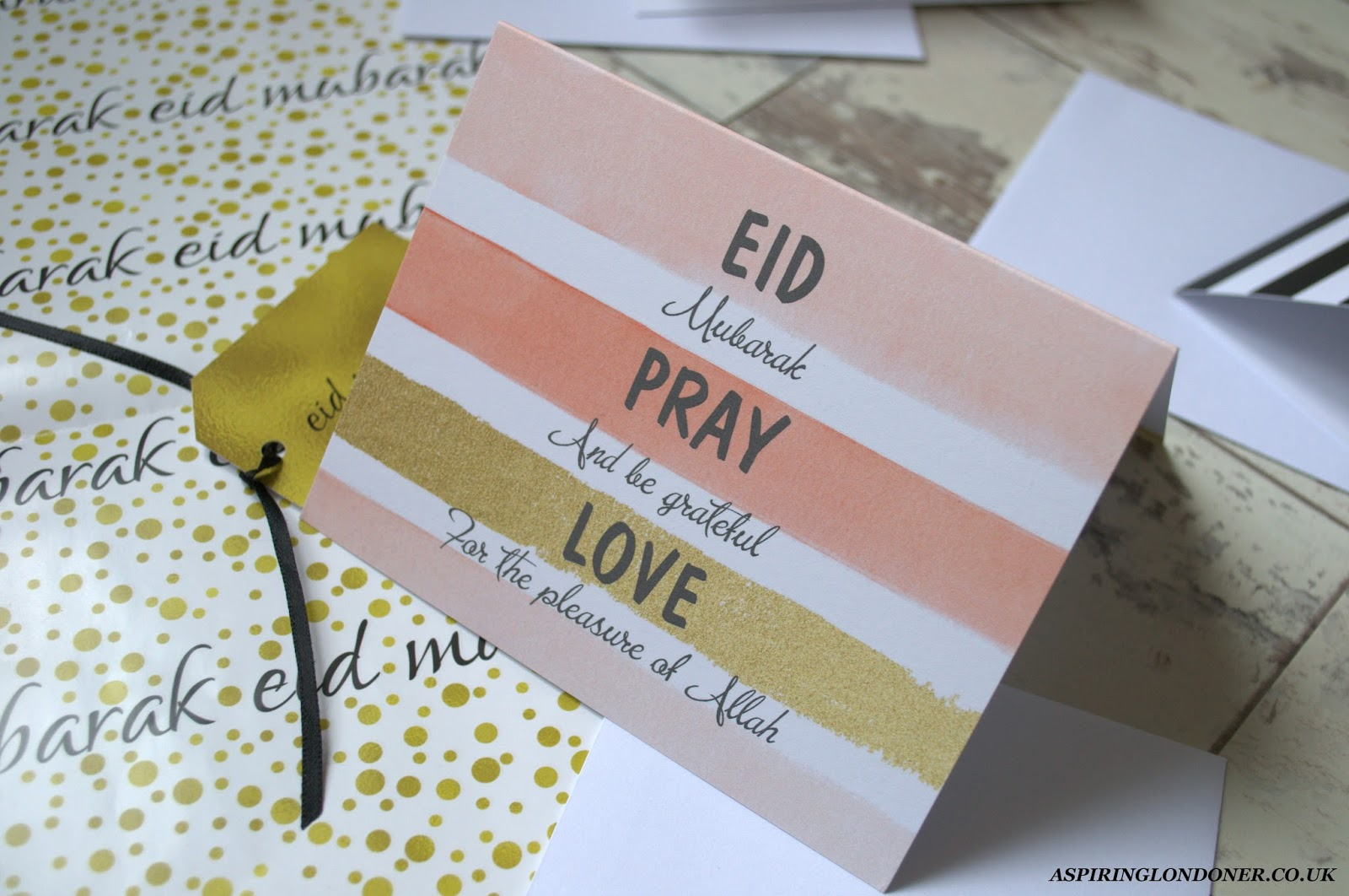 Eid, Pray, Love Eid Greetings Card - Aspiring Londoner