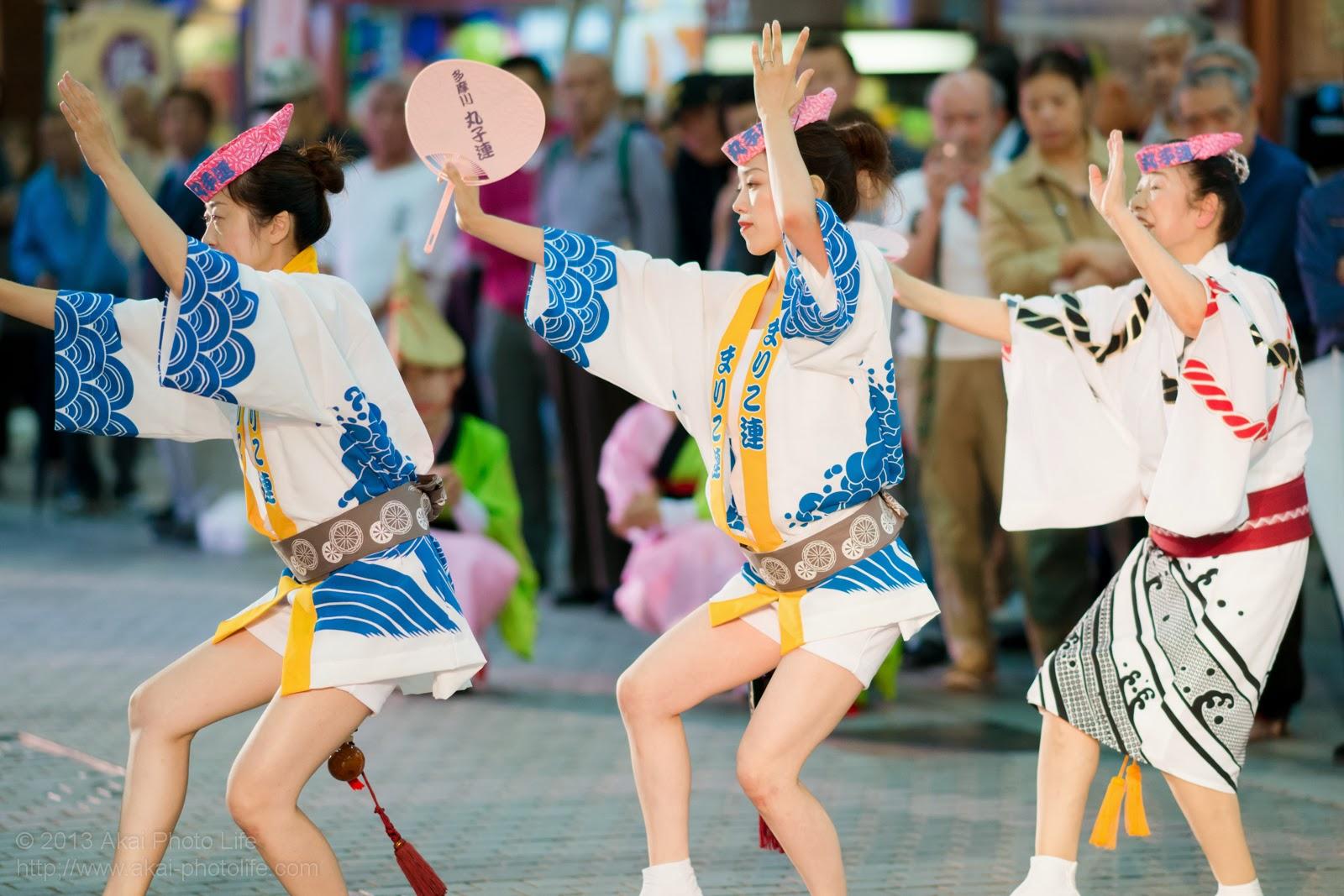 かわさき阿波おどり、多摩川丸子連の女性による団扇踊り
