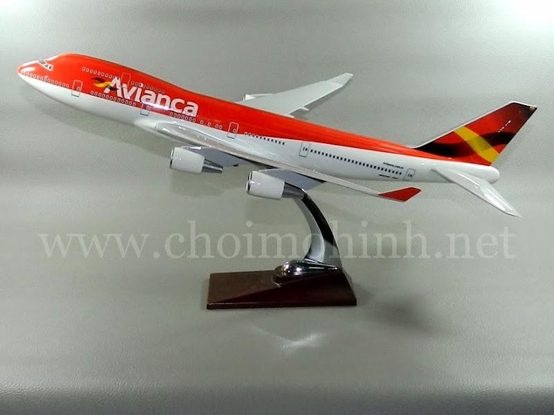 Mô hình máy bay dân dụng Avianca Airlines Boeing 747