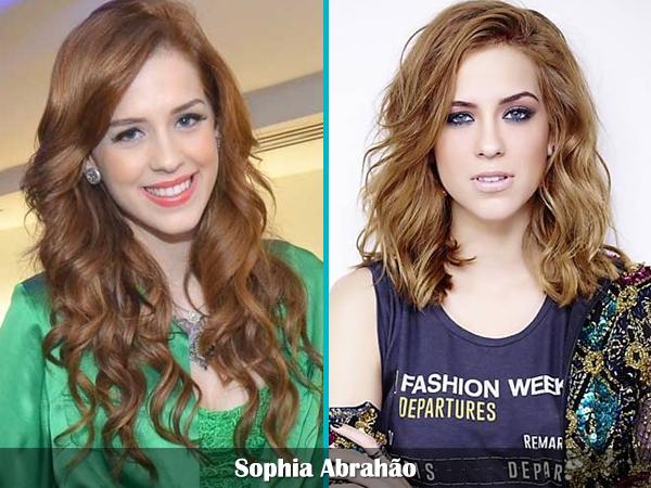 cabelo curto comprido famosas celebridades estilo hair Sophia Abrahão