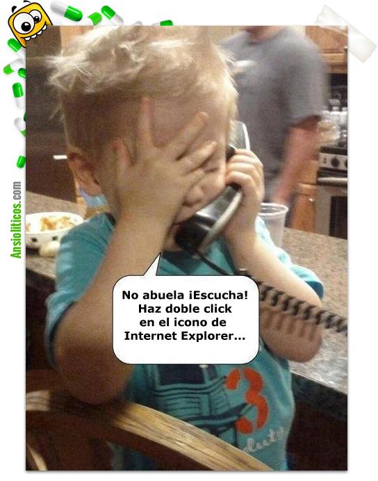 Chiste de Abuela con Internet