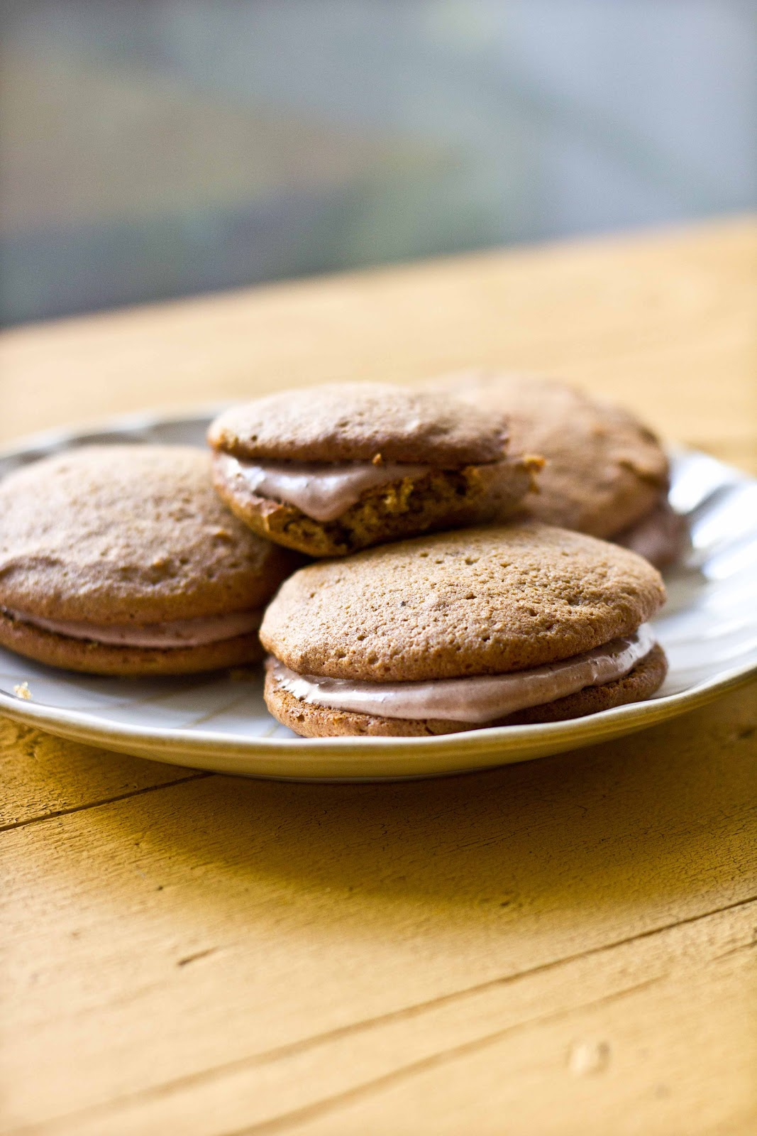 Pumpkin Maple Whoopie Pies with Chocolate Cream Cheese Filling ...