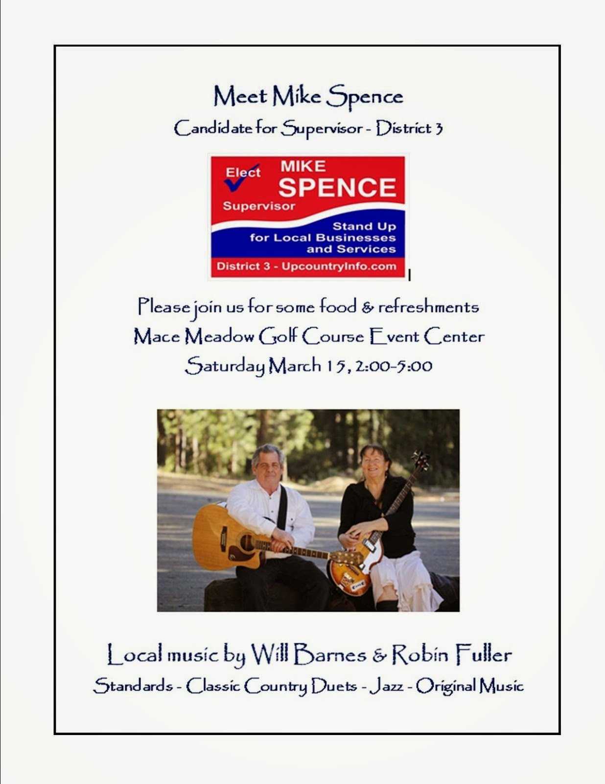 Meet Mike Spence - Sat Mar 15