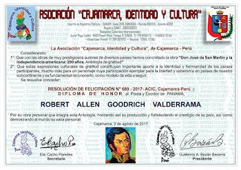 Diploma Asociación Cajamarca