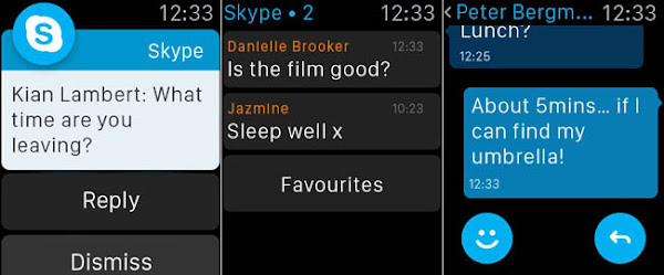 Skype on Apple Watch