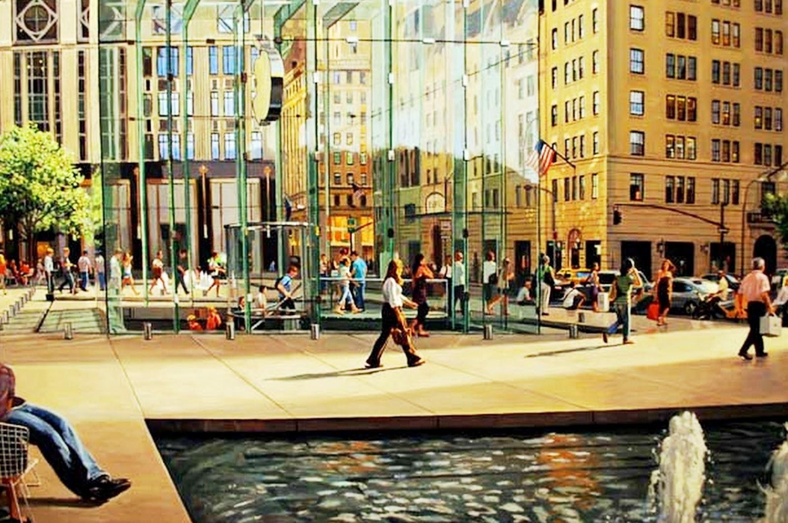 cuadros pinturas de ciudades modernas robert neffson