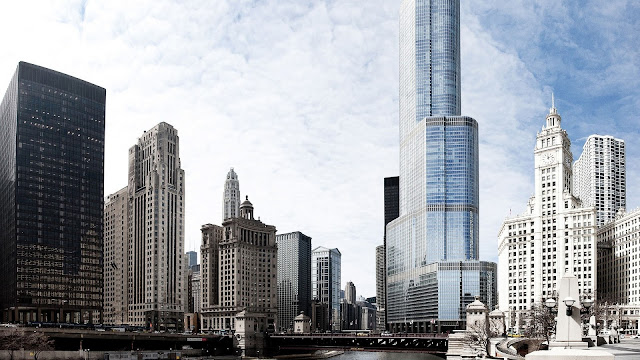 Chicago The City Center Skyscrapers HD Wallpaper