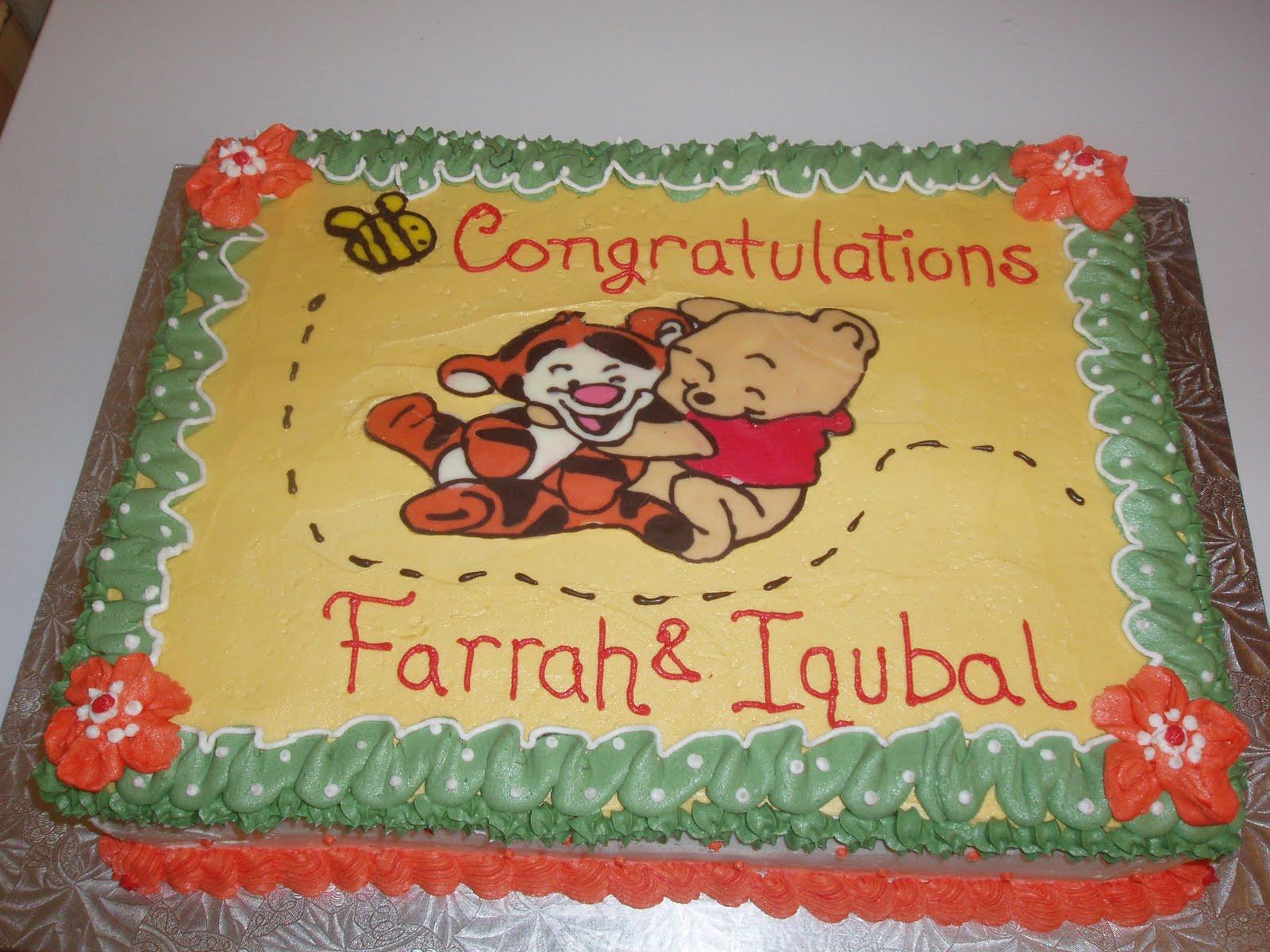 Winnie The Pooh Baby Shower Cake