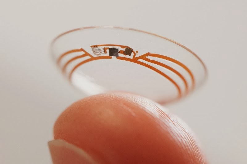 contact lens with glucose meter