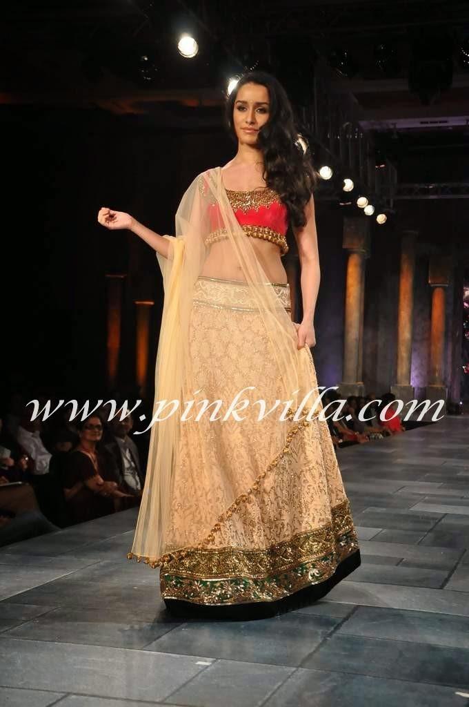 Shraddha kapoor lehenga pic at Mijwan Fashion Show