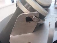 Particolare di un porta campione nel rotore di una centrifuga