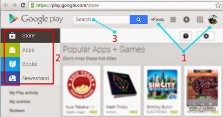Halaman depan Google PlayStore