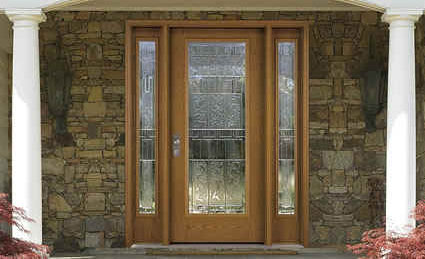 Fiberglass front entry doors are a low-maintenance optionwith ...