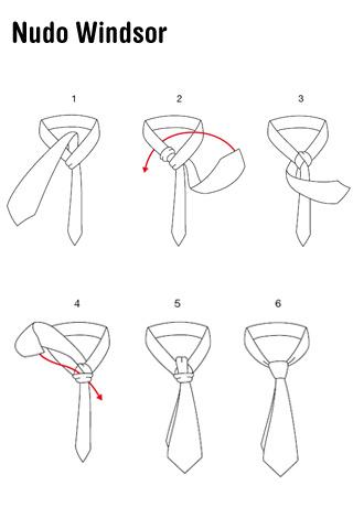 La corbata como usarla camisas de vestir for Nudo de corbata windsor