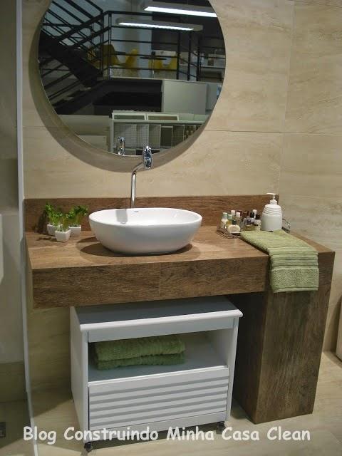 Construindo Minha Casa Clean A Beleza das Bancadas de Porcelanato! -> Cuba Para Banheiro Externa