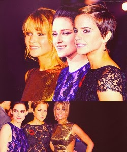 Página Kristen Stewart + Jennifer Lawrence + Emma Watson = Perfección