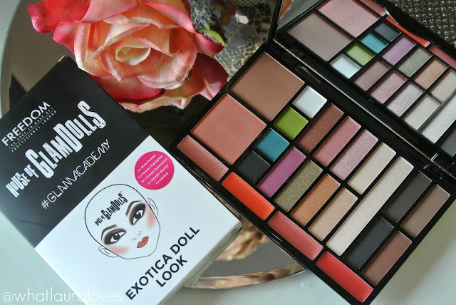 Freedom House of GlamDolls Exotica Doll Look Palette Lipstick Shades Inside