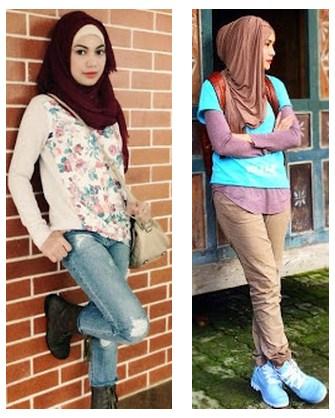 Model 1.  Tips Hijab Modern dan Trendy untuk Aktivitas Kuliah