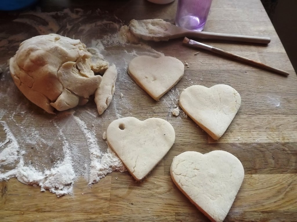 loveheart salt dough banner personalized necklaces get crafty