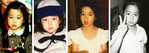 Lee Min Jung as a child