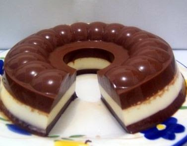 Resep Cake Puding Busa Coklat Berlapis Lembut
