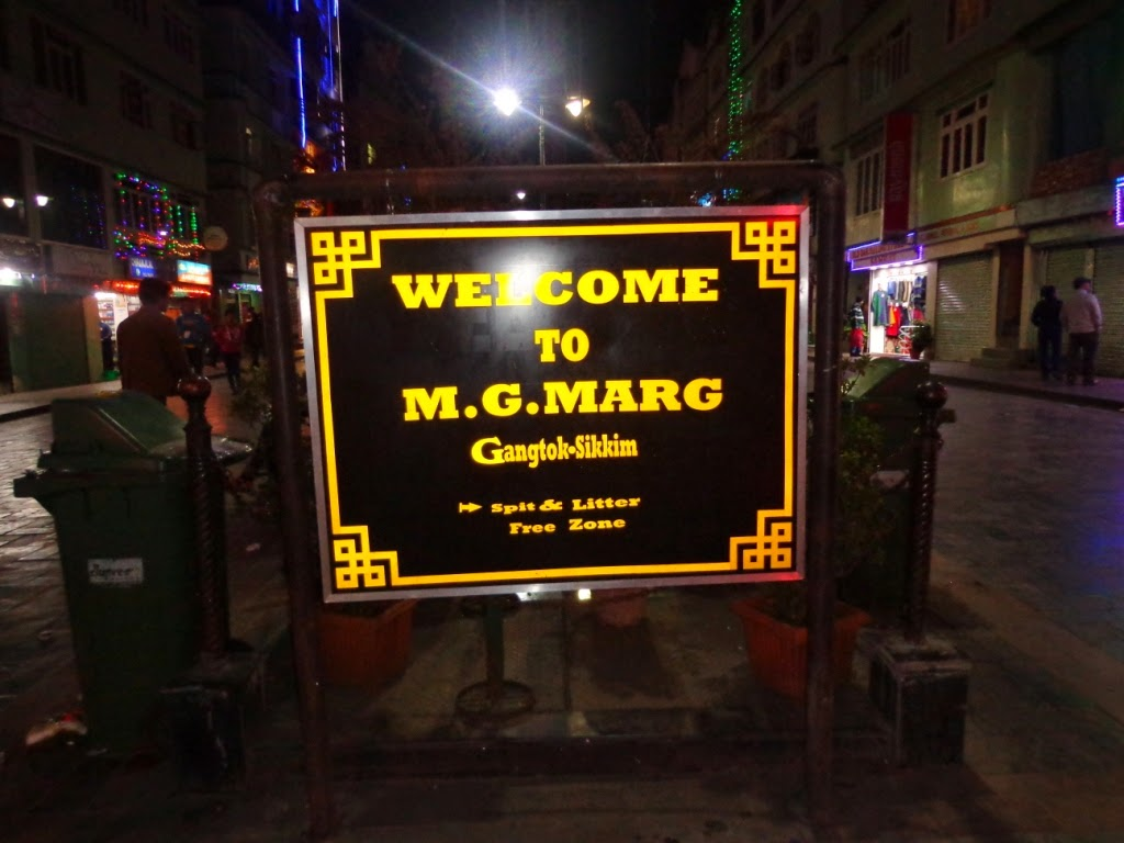 M.G. Road in Gangtok