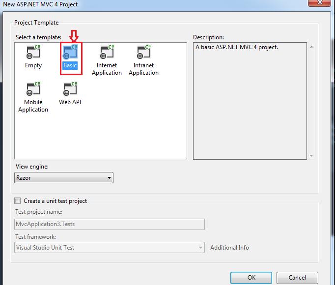 MVC 4 Basic Template