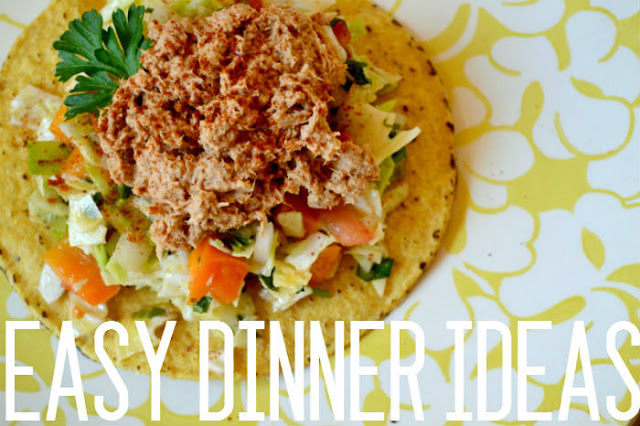 dinner, recipes, ideas, tuna, mexican, tostada
