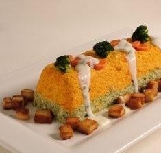 Moldeado de Brócoli y Zanahorias