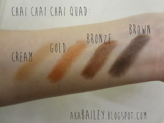 Swatches of Annabelle Chai Chai Chai Eyeshadow Quad