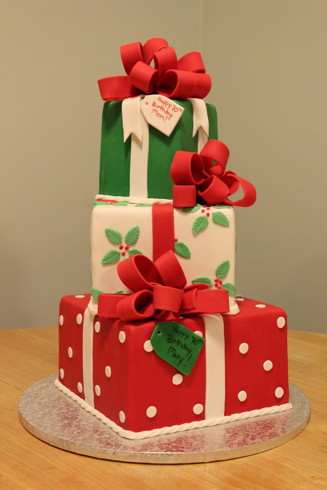The Red-Headed Baker: Christmas Present Box Cake