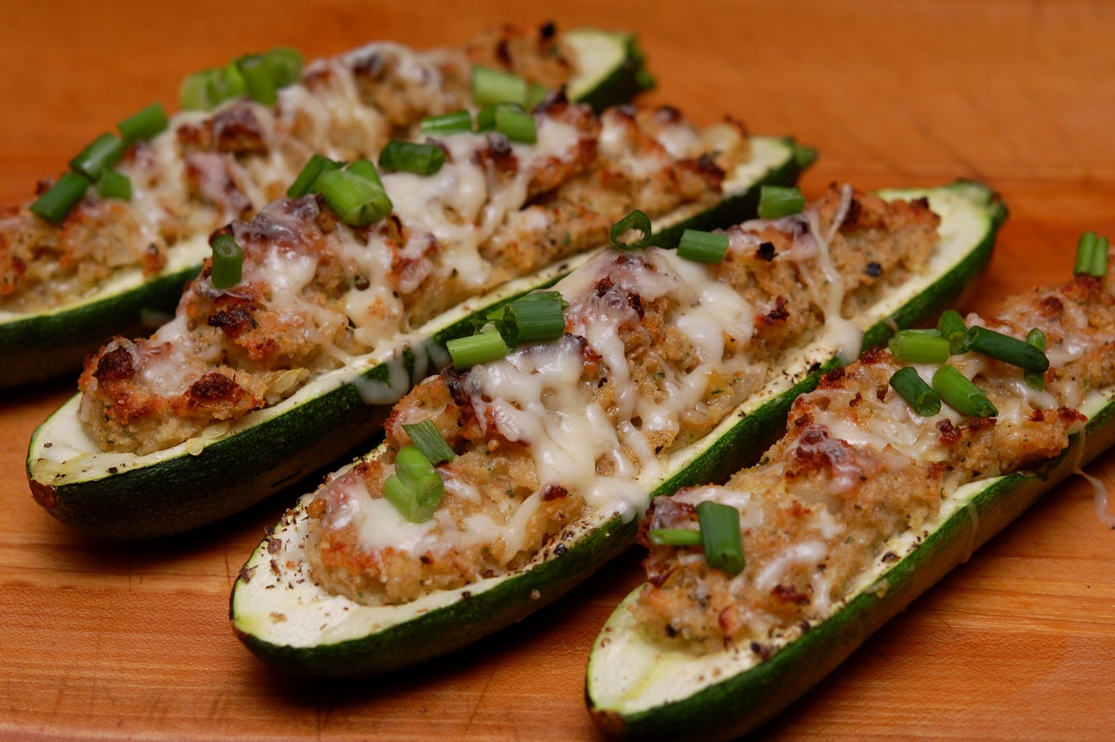 STUFFED ZUCCHINI BOATS-THE BEST SIDE DISH! - Hugs and Cookies XOXO