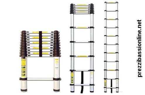 Scala telescopica estensibile in alluminio prezzi migliori - Scala telescopica alluminio ...
