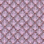 CLICK PHOTO FOR FREE LORETTA SPEARS CHART of SHELL PATTERN ROLL-UP ORNAMENT