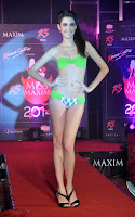 Indian Mdels cute cat walk for Miss Maxim 2013