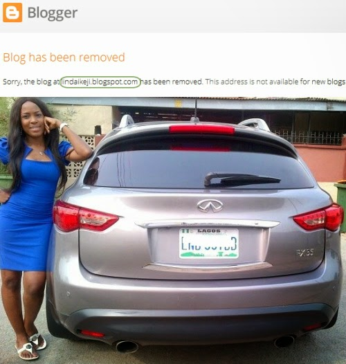 linda ikeji blog removed google