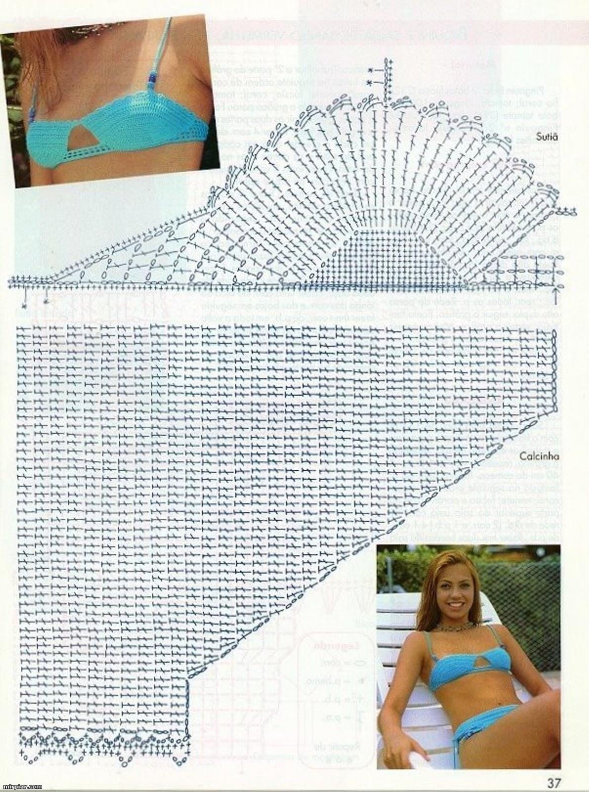 Схемы и фото вязаных купальников