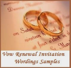 Sample Invitation Wordings Vow Renewal
