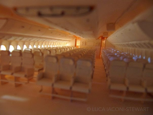 paper aircraft inside seats boeing 777