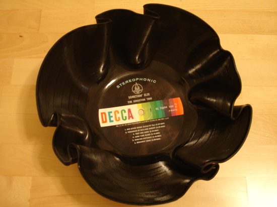 How to recycle recycled vinyl record crafts for What to do with old vinyl records